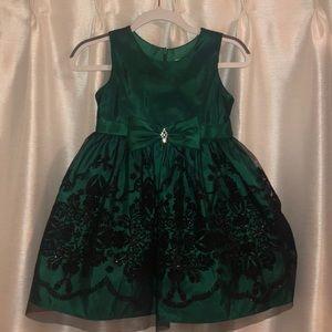 Emerald Green Toddler Dress